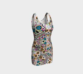 calavera shugar skull bodycon dress preview