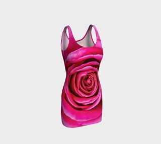 Hot Pink Rose Closeup preview