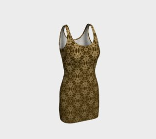 Golden Brown Mandala Bodycon Dress preview