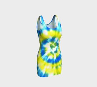 Tie Dye Blue, Aqua, Yellow preview