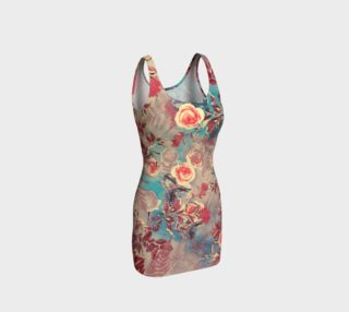 bodycon dress flowers pastel preview