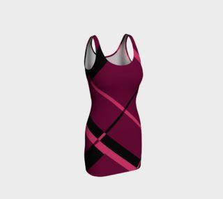 Aperçu de Pink diagonal Plaid Bodycon Dress
