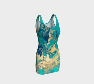 Golden Jade Bodycon Dress 1 preview