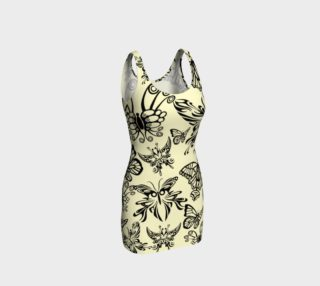 BKC Black Butterfly Body Contouring Dress preview