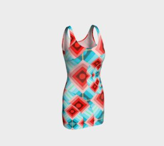Groovy Argyle Bodycon Dress preview