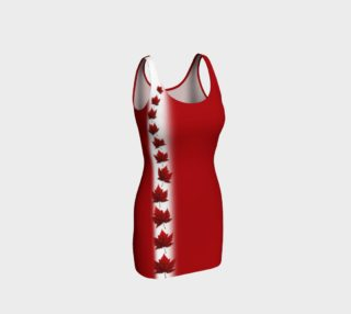 Canada Dress Fitted Canada Flag Dress preview