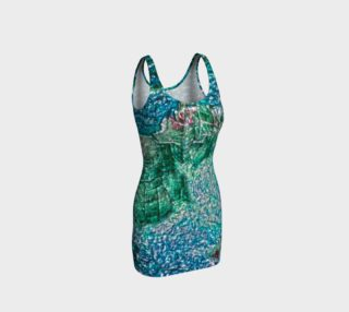 Teal Tree Bark Bodycon Dress preview