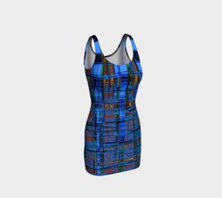 Blue Modern Plaid Bodycon Dress preview