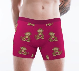 Monkey love pattern Boxer Brief aperçu