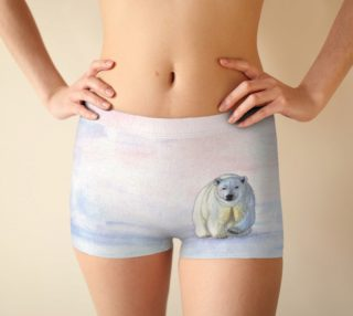 Polar bear in the icy dawn Boyshort preview