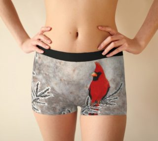 The red cardinal in winter Boyshort preview