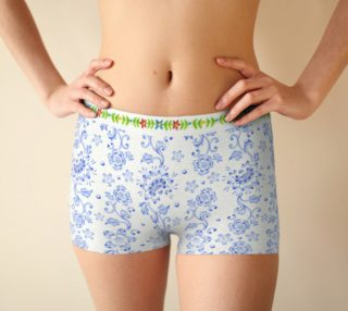 Blue Chinoiserie Boyshorts preview