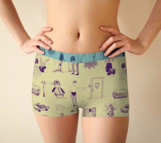 Friends Boyshorts in green preview
