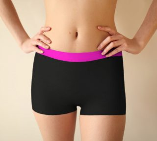 Wild Burro Two Tone Pink Black Boy Shorts preview