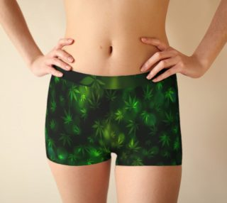 Shining Pot Leaves Boy Shorts preview