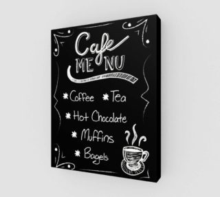 "Aperçu de Cafe Menu Canvas Print 11""x14"""