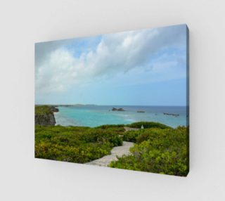 Aperçu de Path to the Secret Beach at Mudjin Harbor on Middle Caicos Wall Art