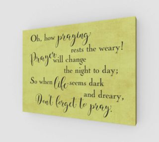 Oh how praying rests the weary! preview