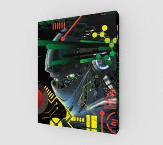 Aperçu de Futuristic Sci-Fi Techno Robot Wall Art