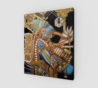 Blue Mayan Astronaut Print 20x24 preview
