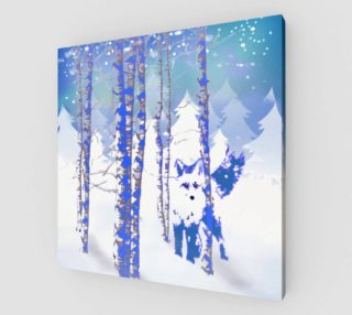 Blue Winter Snow Forest Fox Animal Foxes  preview