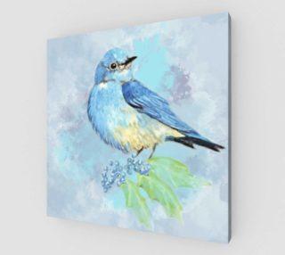 Watercolor Bluebird Blue Bird Nature Art preview