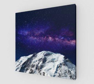 Aperçu de Snow + Galaxy Art Print