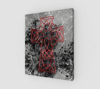Aperçu de Grunge Cross Gothic Art Print by Tabz Jones