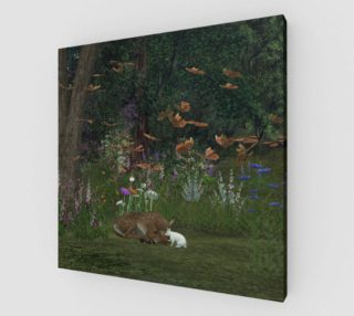 Fawn and Rabbit in the woods preview