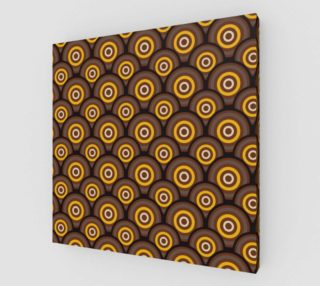 retro circles brown with yellow preview