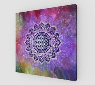 Flower Of Life - Lotus Of India - Galaxy Colored print IV preview