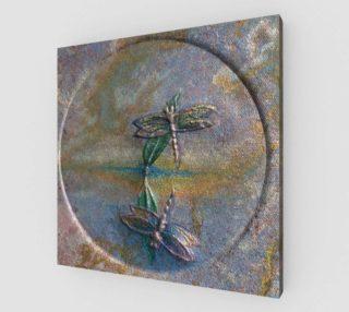 Aperçu de Reflecting Dragonflies Wall Art