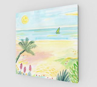 Beach Day Watercolor Fine Art Print preview