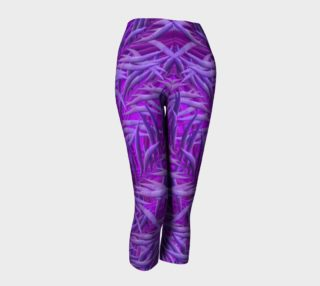 Purple Feathers Capris leggings preview
