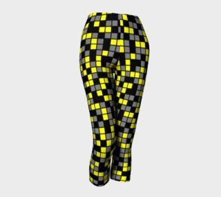 Aperçu de Yellow, Black, and Medium Grey Random Mosaic Squares