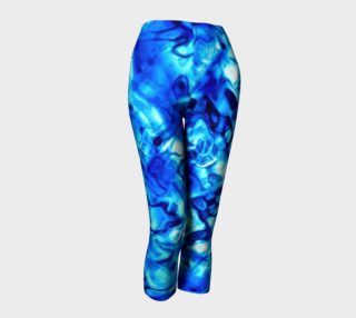 Glistening Blue Water Texture Capris preview
