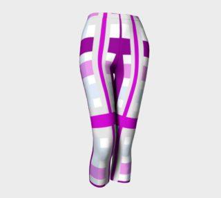 Purple Gingham Capris leggings preview