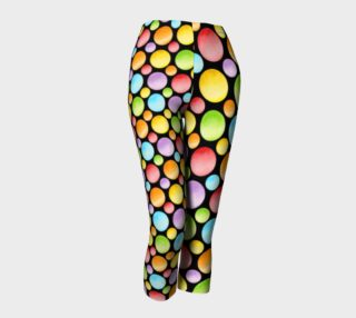 Aperçu de Rainbow Polka Dots Capris asymmetric