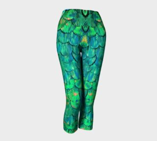 Mermaid Large--Scale Green Capris preview