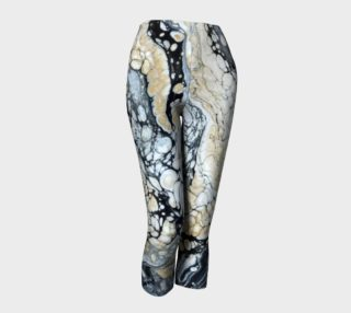Bold Black Gold Abstract Capris preview