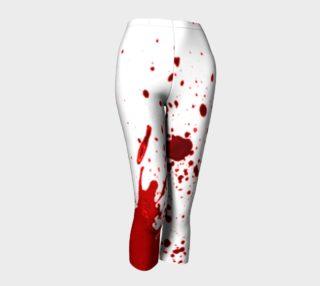 Blood Splatter First Cosplay Halloween Capris preview