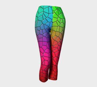 EC Exclusive Color Block Capri Leggings preview