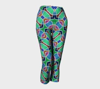 Nouveau Peacock Stained Glass Capris preview