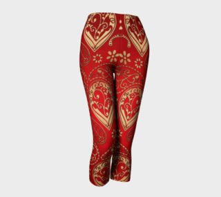 Red and Gold Paisley Capris preview