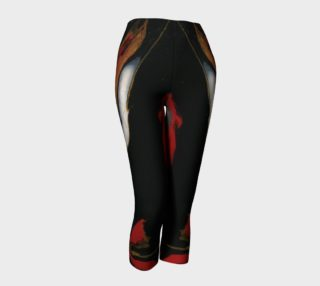Black Red & Gold Abstract Capris preview