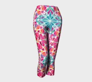 Pink and Blue Kaleidoscope Capris preview