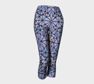 Purple and Blue Kaleidoscope Capris preview