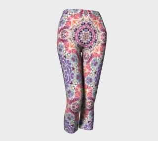 Purple and Pink Kaleidoscope Capris preview