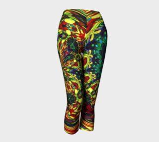 Glenna's Ravewear Floral-Splash Capris preview