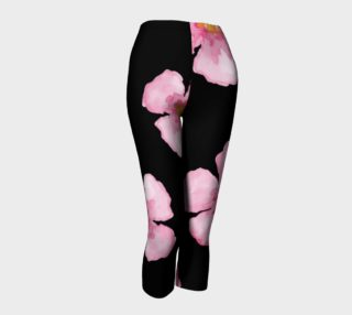 Pink Watercolor Flower Pattern on black preview